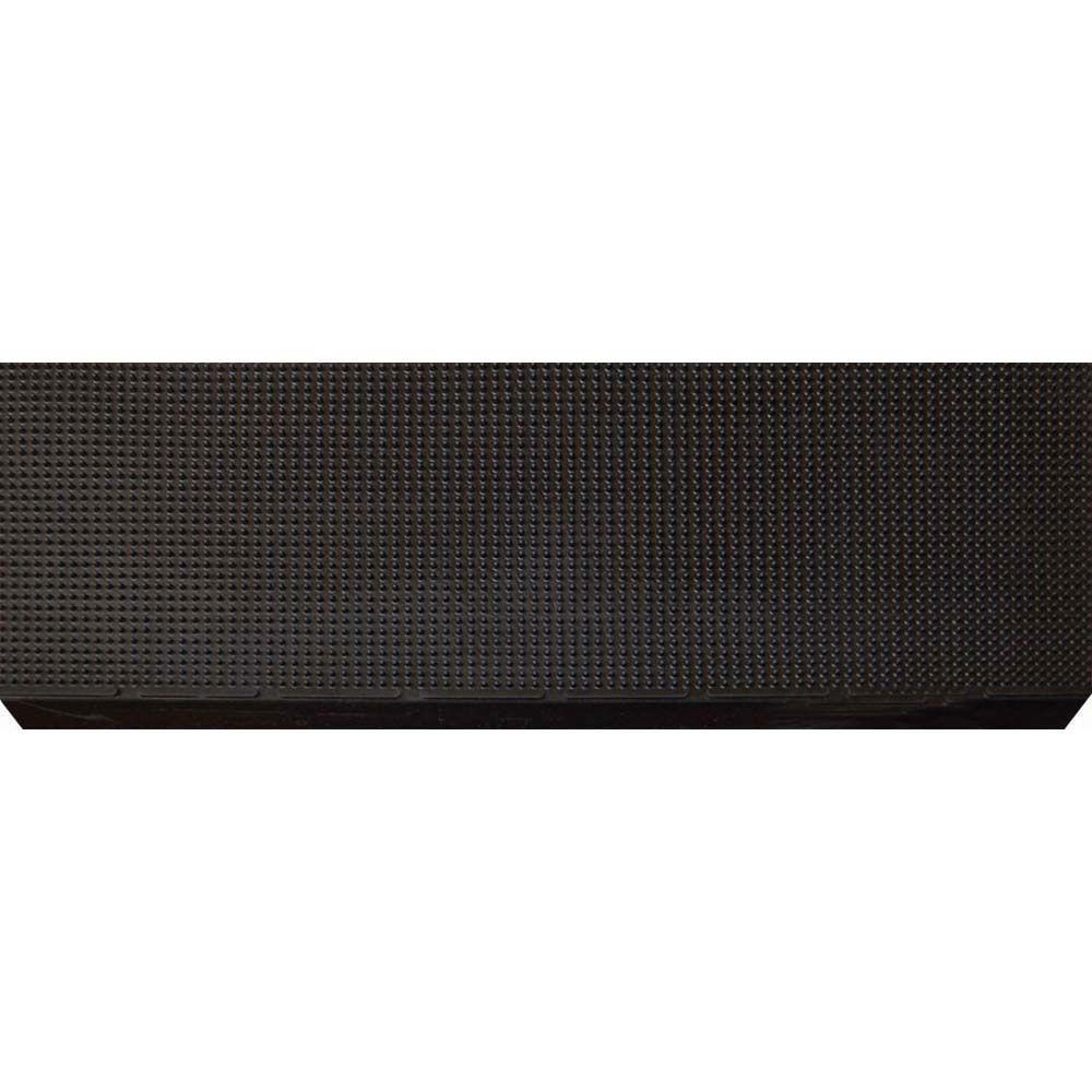 Multy Home Black Rubber 9 In. X 24 In. Grid Stair Tread (10