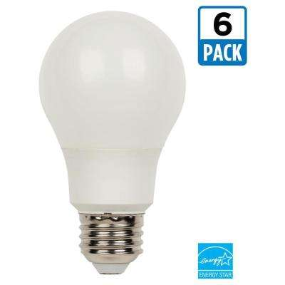 60W Equivalent Bright White Omni A19 Dimmable LED Light Bulb (6-Pack)