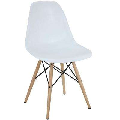 Pyramid White Dining Side Chair