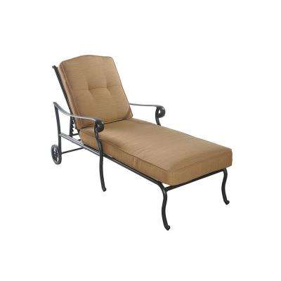 Largemont Dark Chocolate Patio Lounge Chair with Dupione Caramel Cushion