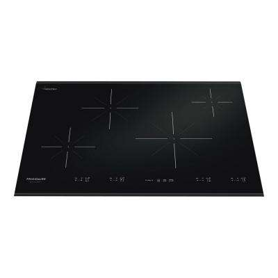 30 in. Smooth Ceramic Glass Induction Cooktop in Black with 4 Elements