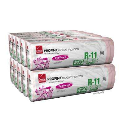 R-11 EcoTouch PINK Unfaced Fiberglass Insulation Batt 15 in. x 93 in. (10-Bags)
