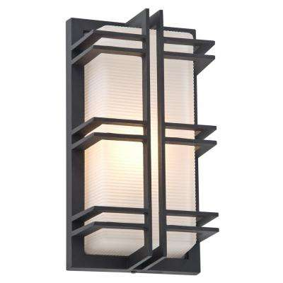 Abbey 1-Light Black Outdoor Wall Mount Sconce