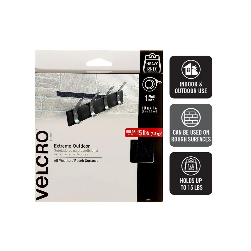 VELCROBrand VELCRO Brand 10 ft. x 1 in. Black Industrial Strength Extreme Tape