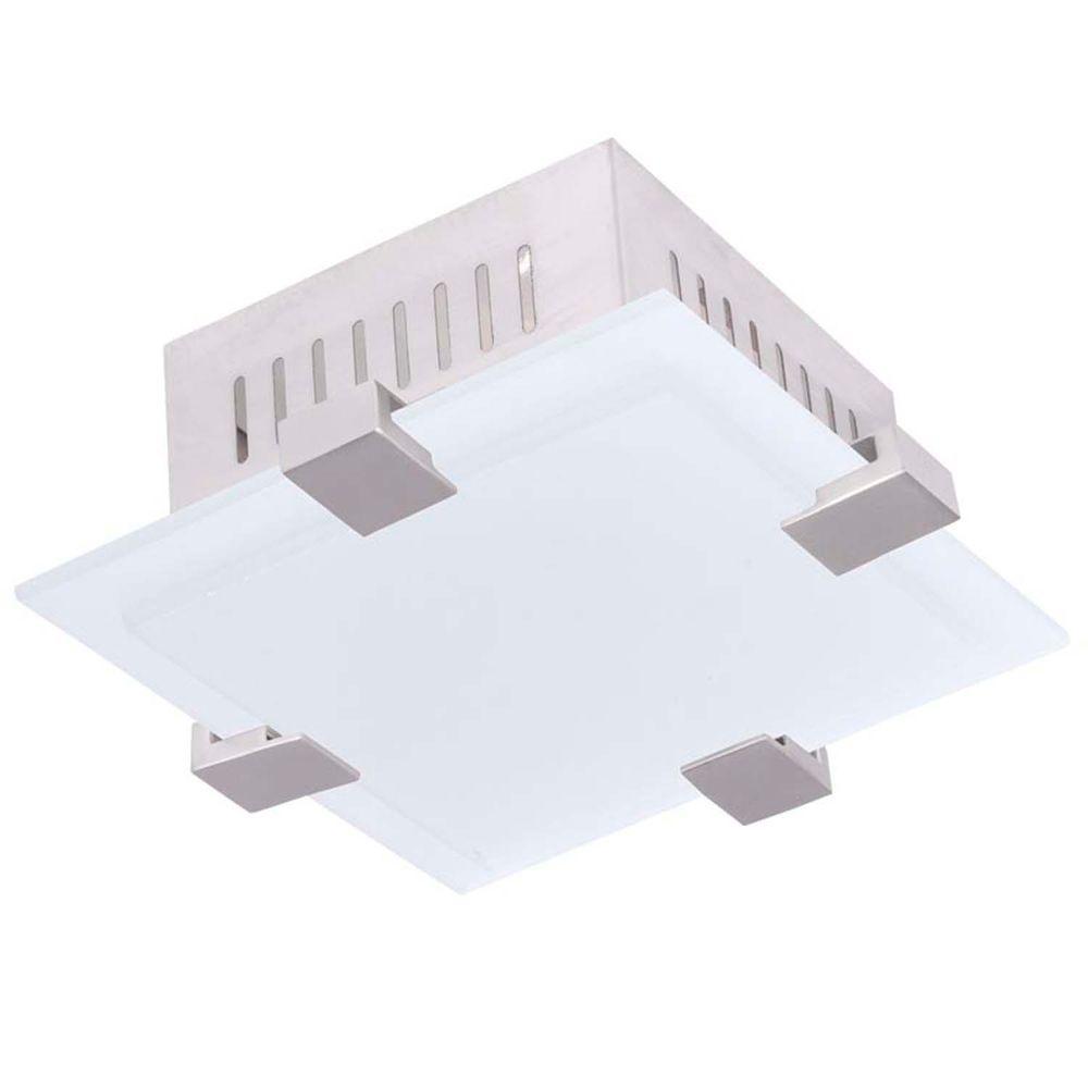 Filament Design Providence 1-Light Brushed Nickel Incandescent Ceiling Flush Mount