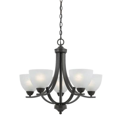 Warna 5-Light Bronze Chandelier