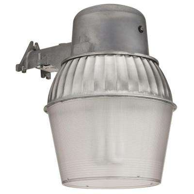 1-Light Gray Outdoor Compact Fluorescent Area Light with Dusk to Dawn Photocell