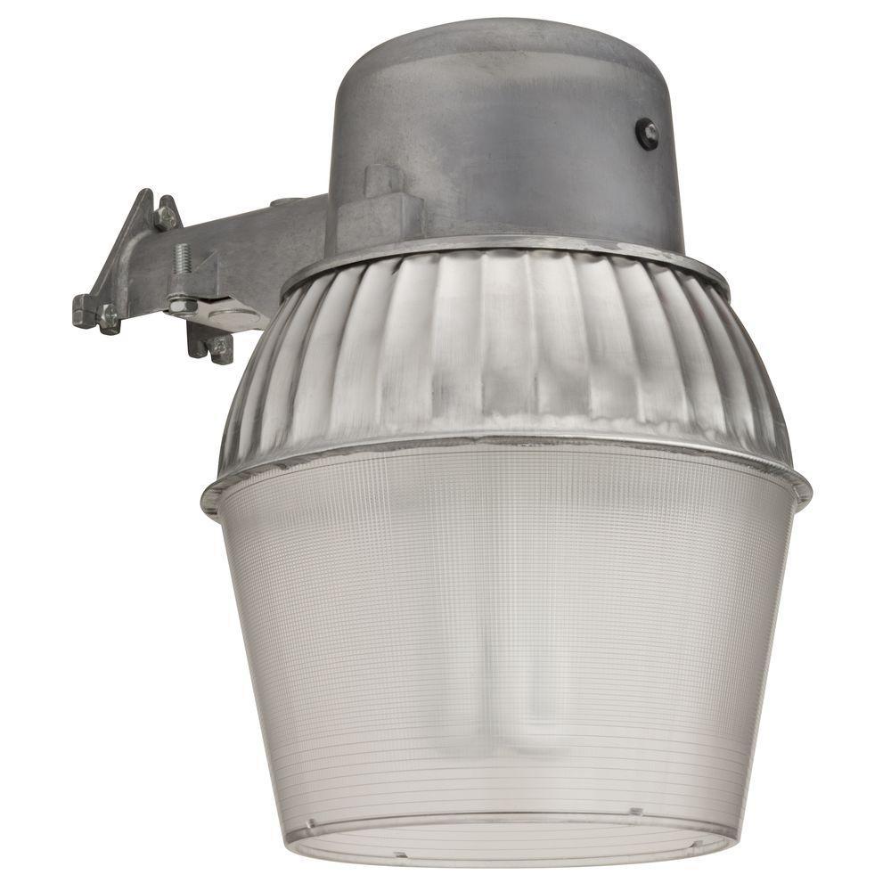 Lithonia Lighting 65 Watt Cfl Wall Mount Outdoor Gray Fluorescent Area Light Oals10 65f 120 P Lp M4 The Home Depot