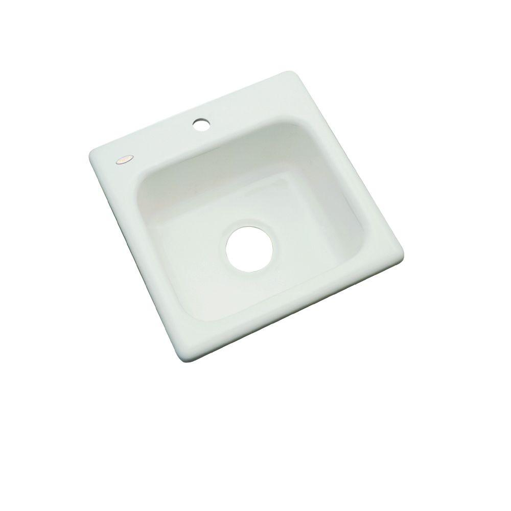Manchester Drop-In Acrylic 16 in. 1-Hole Single Bowl Bar Sink in