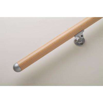 Prova Unfinished Beech Wood 79 in. Long Handrail Kit