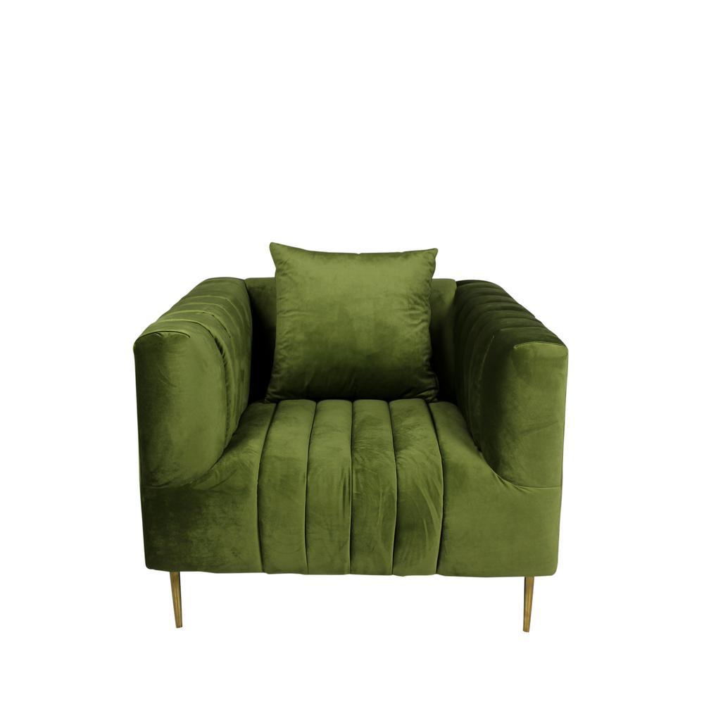Rutland Lounge Chair in Olive