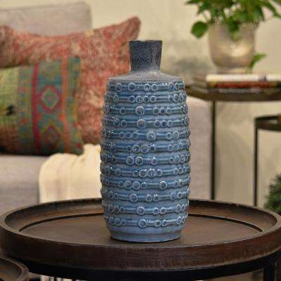 Turquoise Coated Ceramic Decorative Vase