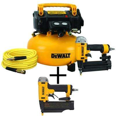 18-Gauge Brad Nailer and 6 Gal. Heavy Duty Pancake Electric Air Compressor Combo Kit with Bonus Pin Nailer