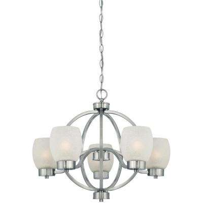 Karah 5-Light Brushed Nickel Chandelier