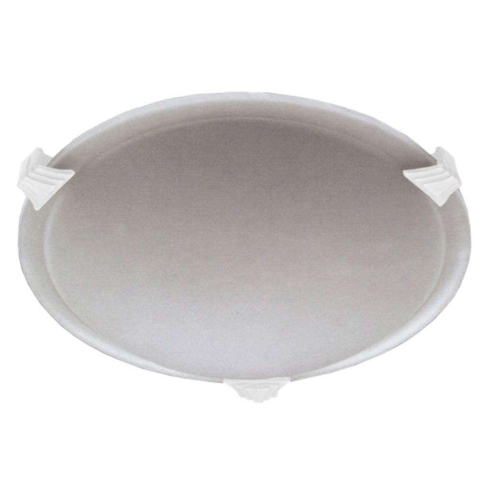Illumine Contemporary Beauty 1-Light White Halogen Flush Mount