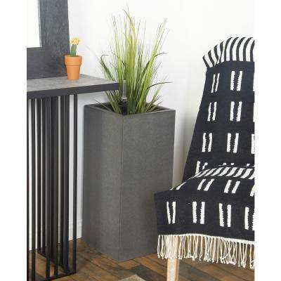 27 in. x 12 in. Dark Gray Concrete Square Planter