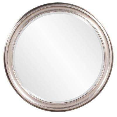 36 in. x 36 in. x 1 in. Brushed Nickel Vanity Framed Mirror
