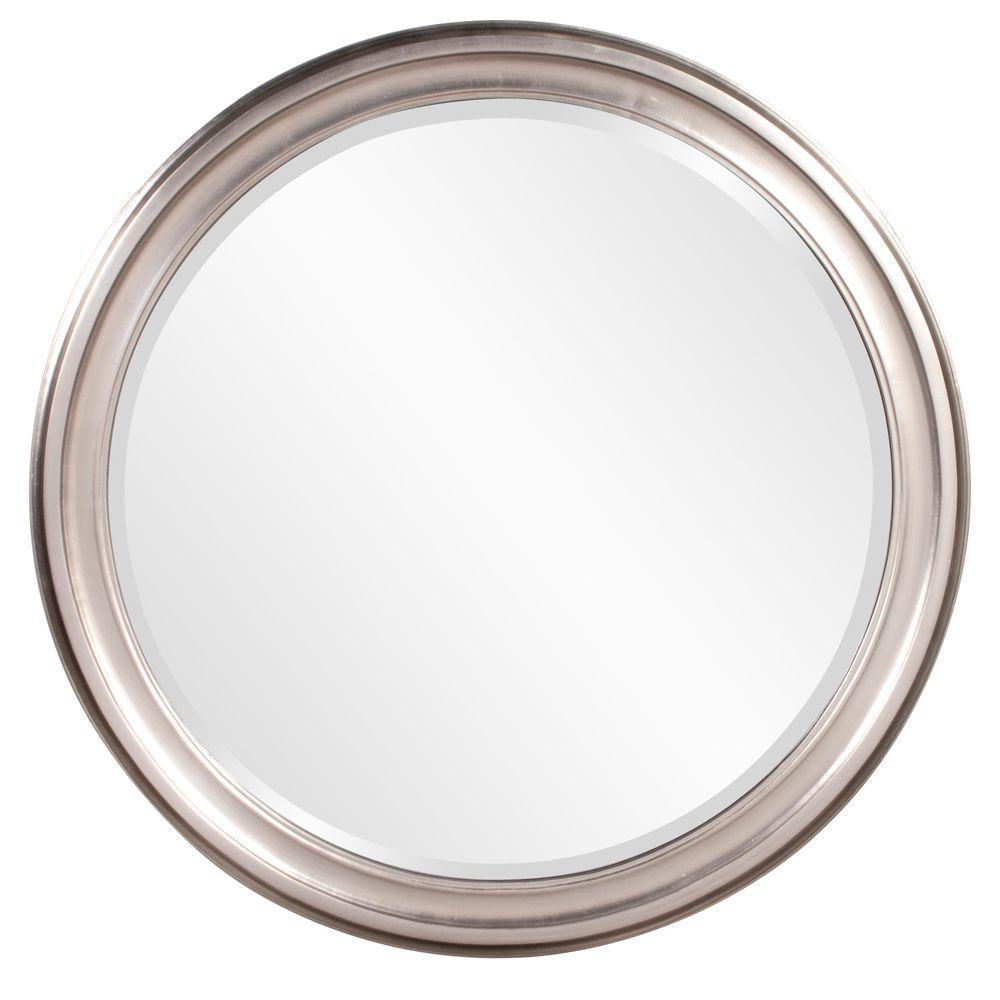 The Howard Elliott Collection 36 in. x 36 in. x 1 in. Brushed Nickel Vanity Framed Mirror