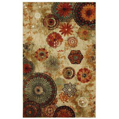 Caravan Medallion Multi 6 ft. x 9 ft. Indoor Area Rug