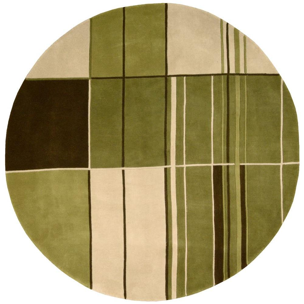Nourison Dimensions Green 5 ft. 9 in. x 5 ft. 9 in. Area Rug