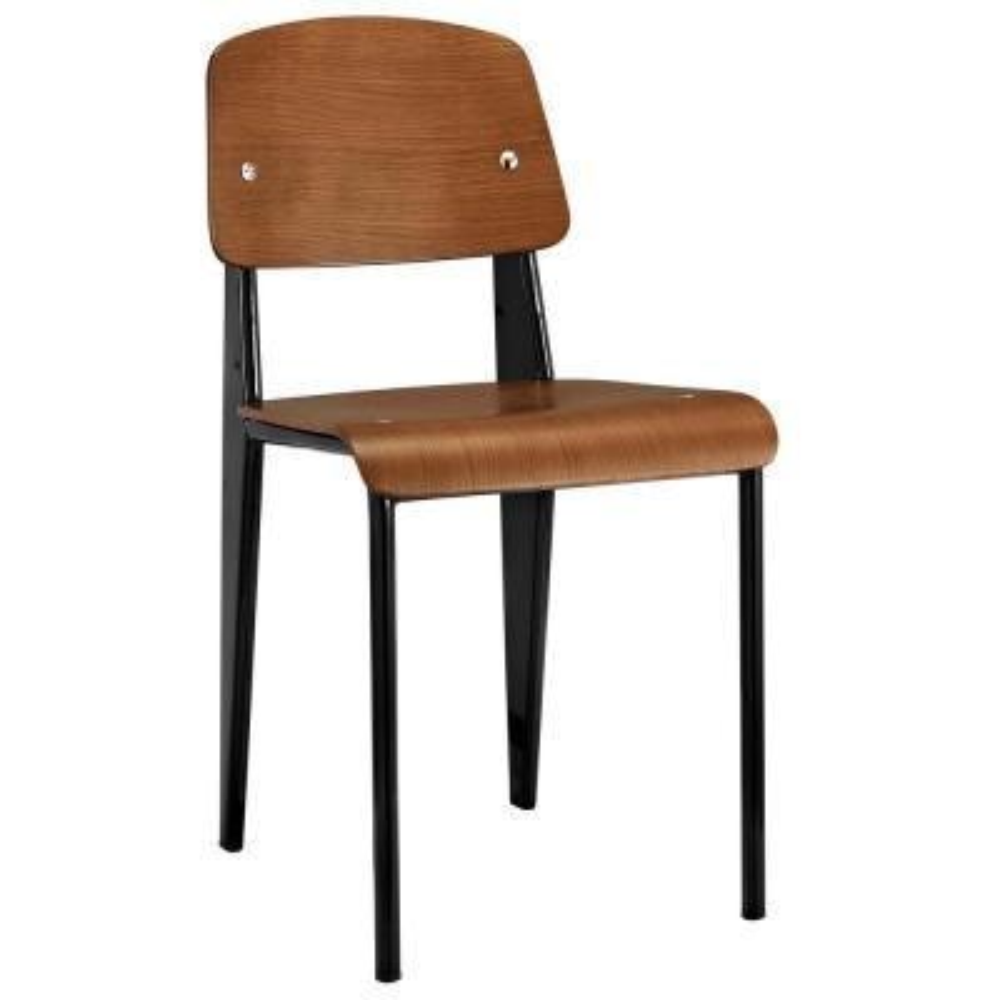 Walnut Black Cabin Dining Side Chair