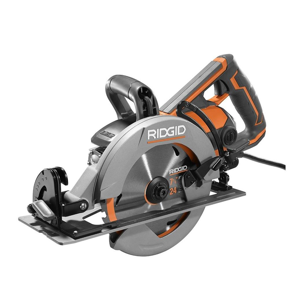 Ridgid 15 amp thrucool 7 14 in worm drive circular saw r32104 worm drive circular saw greentooth Image collections