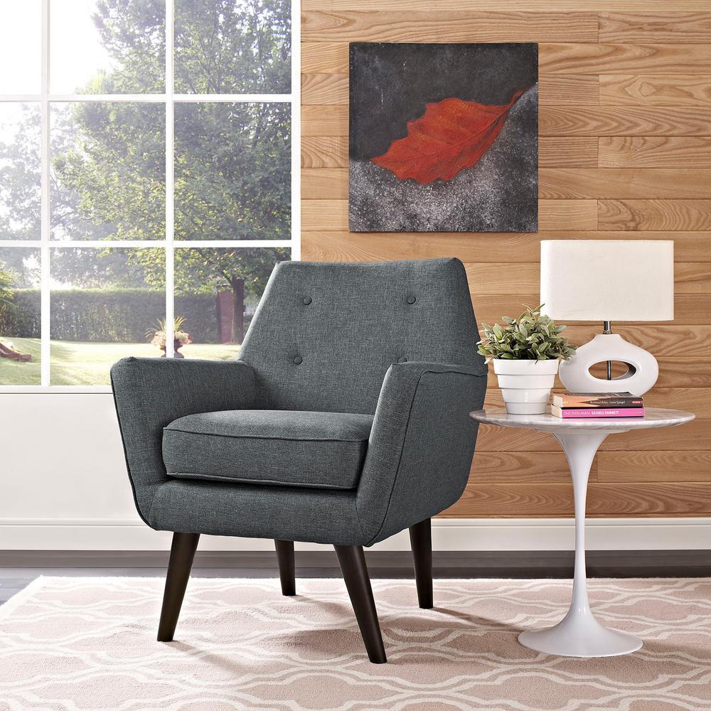 Posit Gray Upholstered Armchair