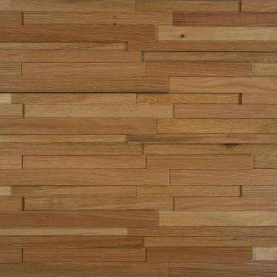 Take Home Sample - Deco Strips Straw Engineered Hardwood Wall Strips - 5 in. x 7 in.