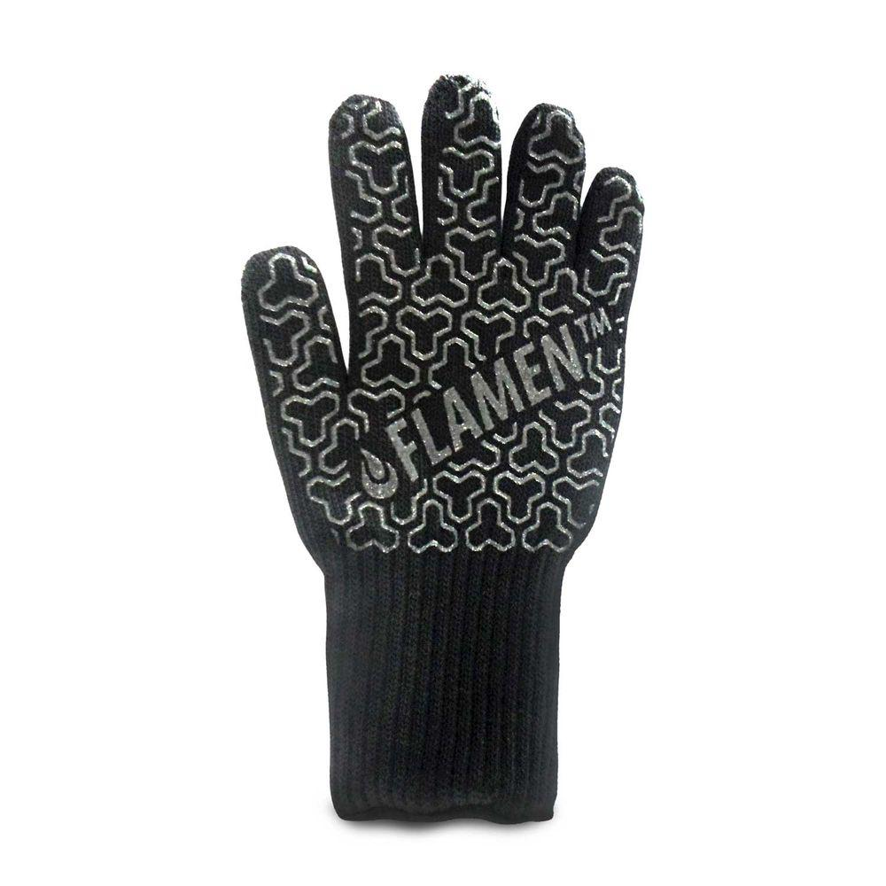 Extended-Cuff Premium Heat-Resistant Fireplace Glove