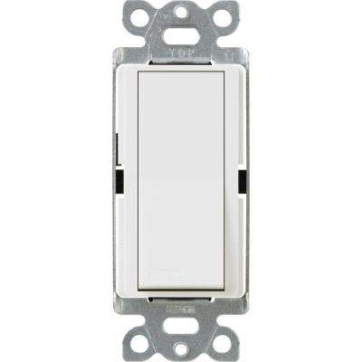Claro 15-Amp Single-Pole Paddle Switch - White