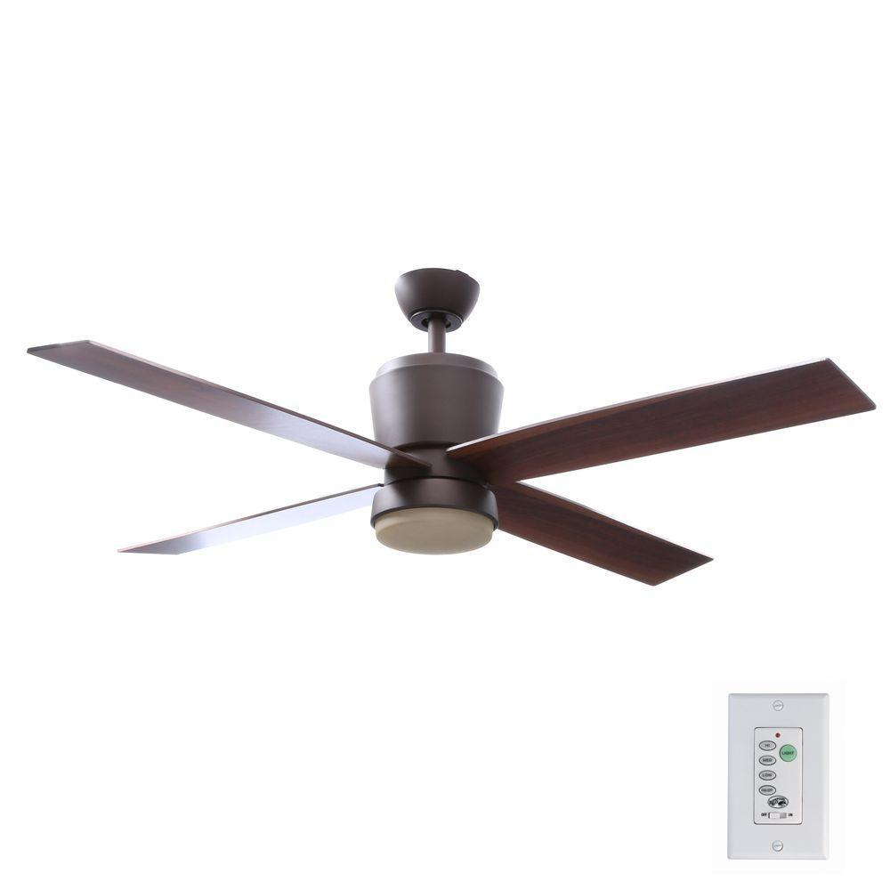 Hampton Bay Trusseau 52 In Indoor Oil Rubbed Bronze Ceiling Fan With Light Kit And