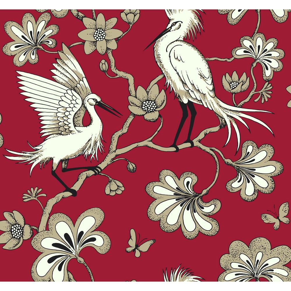 60.75 sq. ft. Egrets Wallpaper