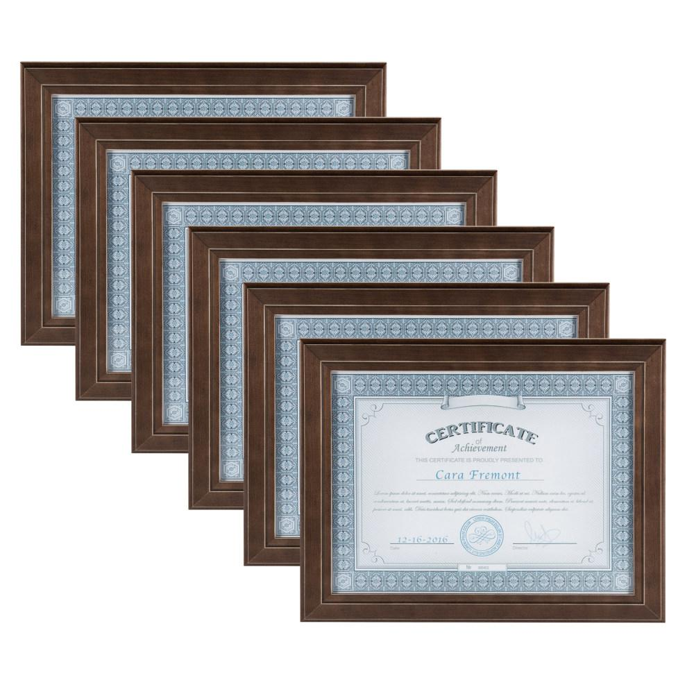 Designovation Kieva 85x11 Brown Picture Frame Set Of 6 211236