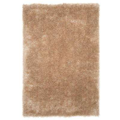 Shag Tan 5 ft. 3 in. x 7 ft. 7 in. Area Rug