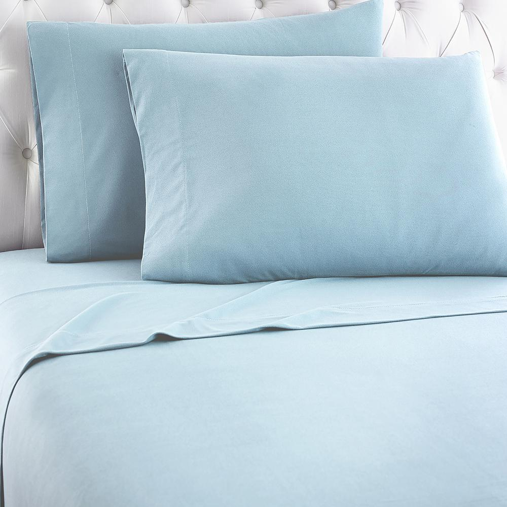 3-Piece Spa Blue Twin Sheet Set