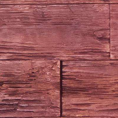 Superior Time Weathered 10 in. x 10 in. Faux Rustic Panel Siding Sample Mahogany