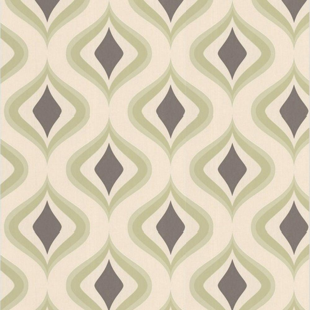Graham & Brown 56 sq. ft. Trippy Green Wallpaper-DISCONTINUED