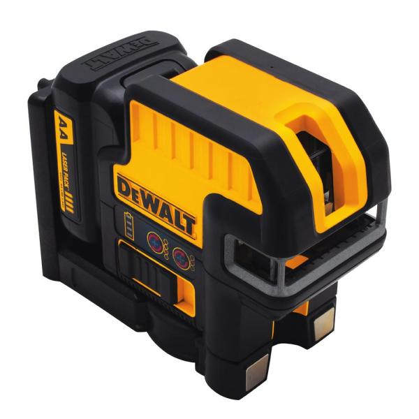 12-Volt MAX Lithium-Ion 100 ft. Red Self-Leveling 5-Spot & Cross Line Laser Level with (4) AA Batteries & TSTAK Case