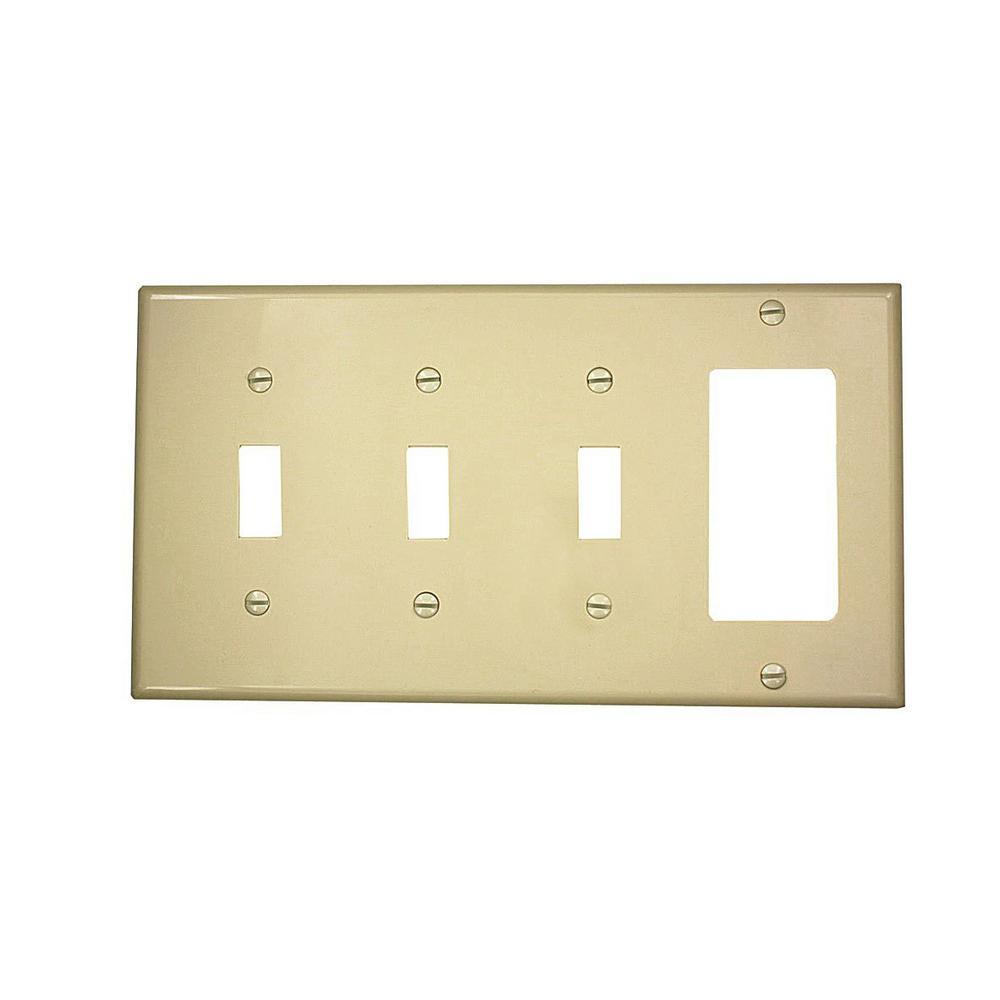 2-Toggle / 1-Decorator / Rocker - Wall Plates - Wall Plates & Jacks ...