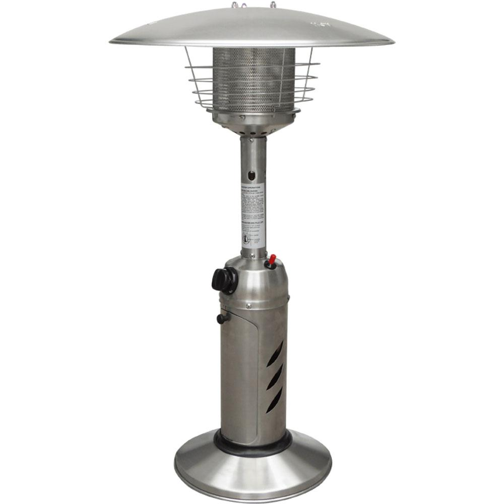 Hanover Mini Umbrella Tabletop 11 000 Btu Stainless Steel Propane Patio Heater