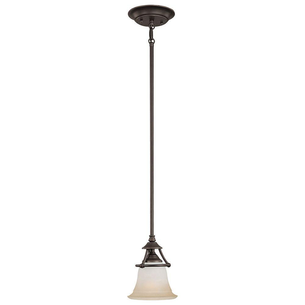 Thomas Lighting Harmony 1-Light Aged Bronze Pendant-SL825662 - The ...