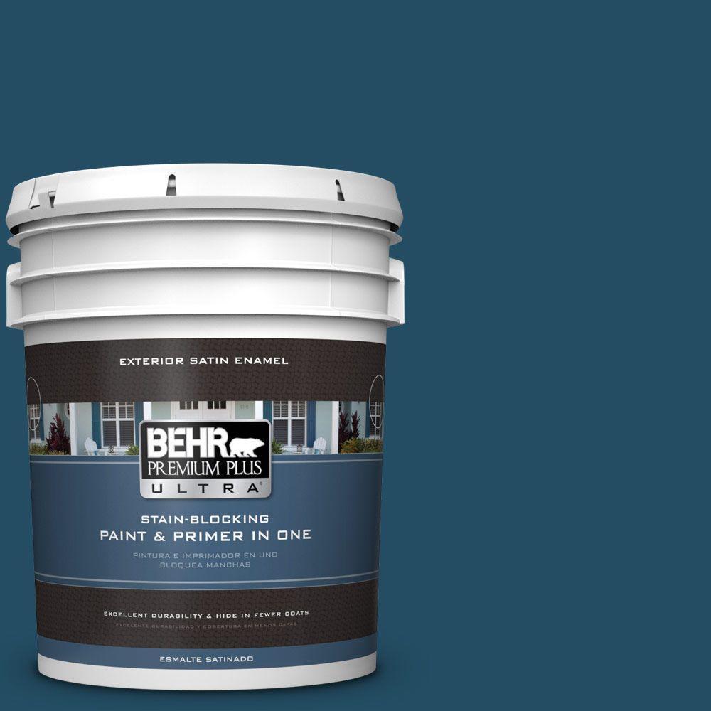 BEHR Premium Plus Ultra 5-gal. #560D-7 Planetarium Satin Enamel Exterior Paint