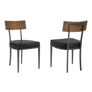 Magnificent Armen Living Ojai Black Mineral Faux Leather Dining Chair Pabps2019 Chair Design Images Pabps2019Com