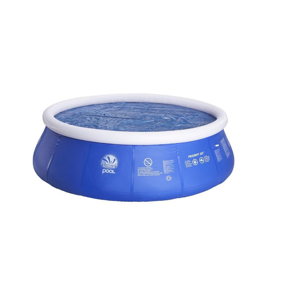 14 ft. x 14 ft. Blue Round Floating Solar Prompt Set Swim...