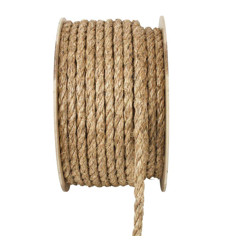 Everbilt 1/2 in. x 1 ft. Manila Twist Rope, Natural