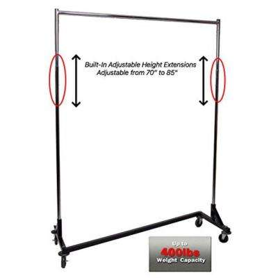 "Adjustable Height Heavy Duty Z Rack w/ Black Base 72"" H x 63"" W x 24"" D"