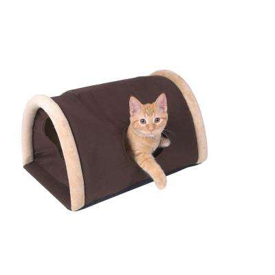 Kitty Camper Small Brown Outdoor Heated Cat Shelter