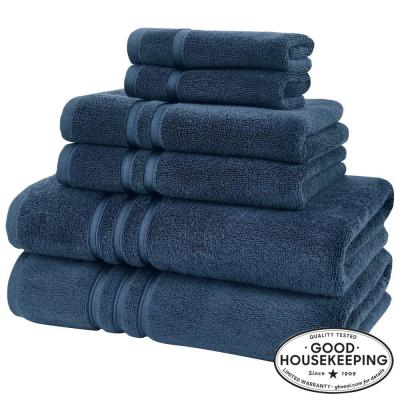 Turkish Cotton Ultra Soft 6-Piece Towel Set in Navy