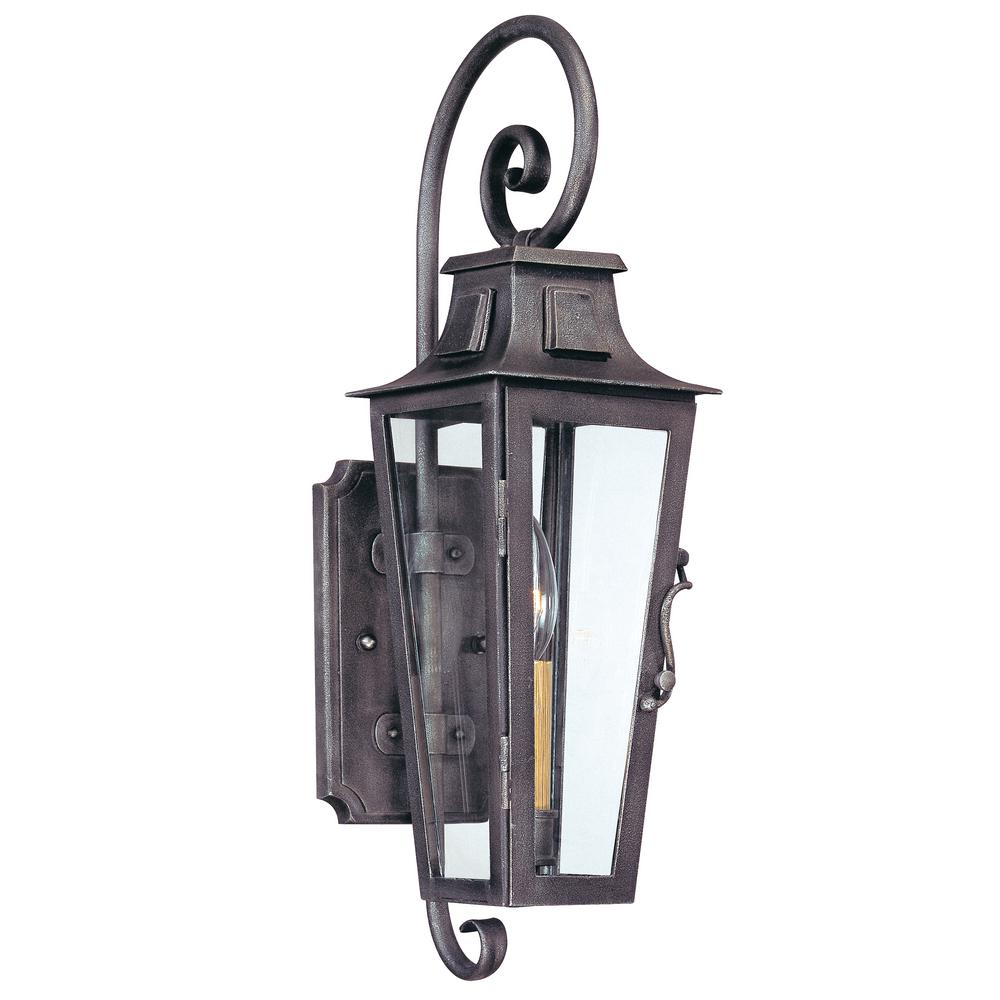 Troy Lighting French Quarter Aged Pewter Outdoor Wall Mount Lantern