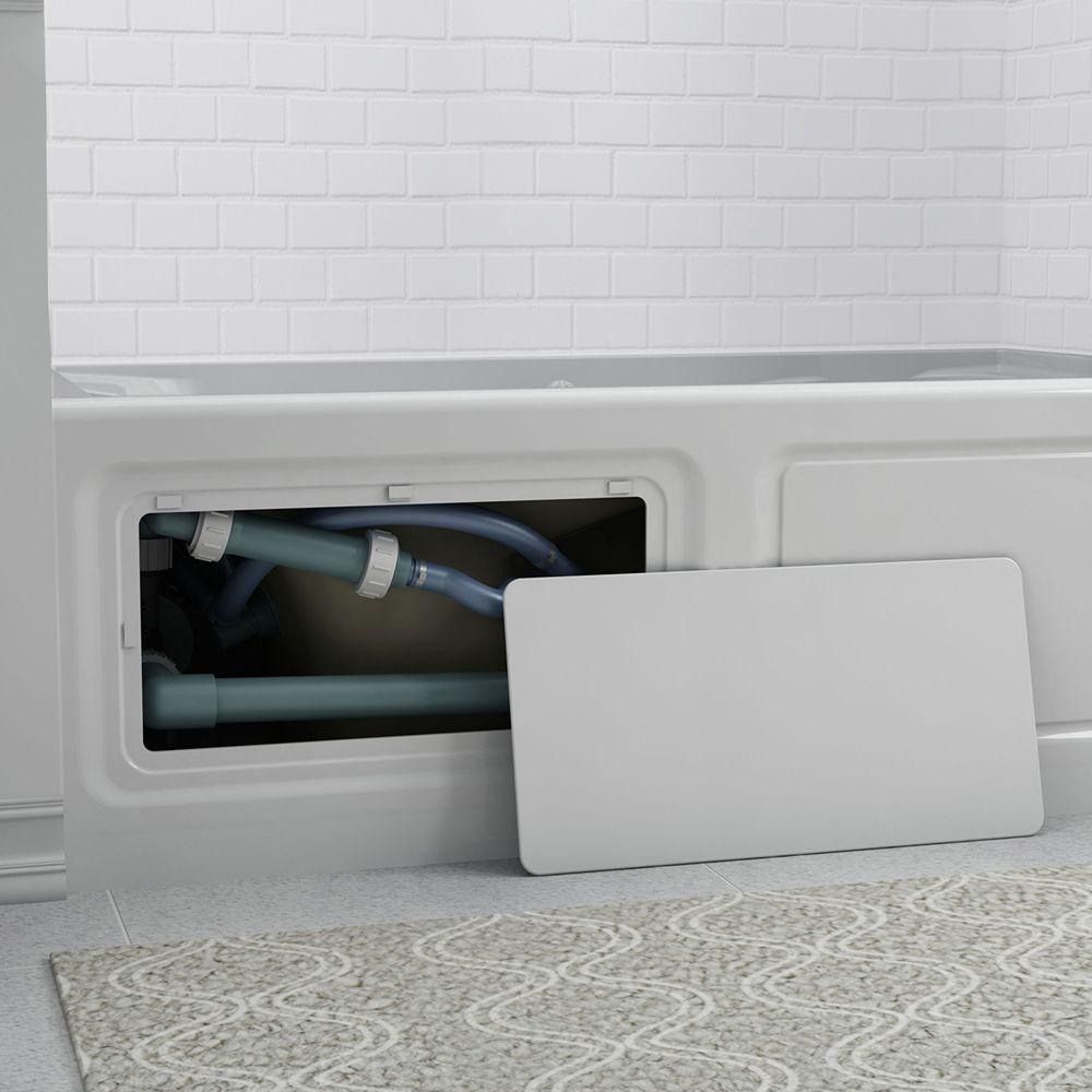 American Standard Champion A 60 In X 32 Whirlpool Tub With Right Drain White